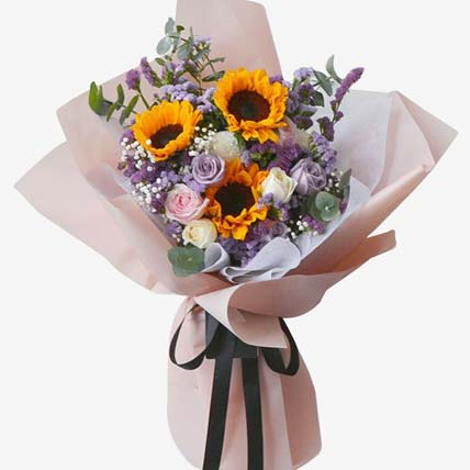 Happy Sunshine Bouquet: Flower Delivery in Clementi