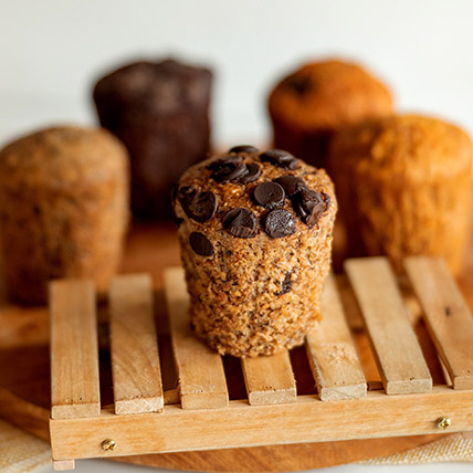 Wholemeal Banana Chocolate Muffin: Eggless Cake Singapore