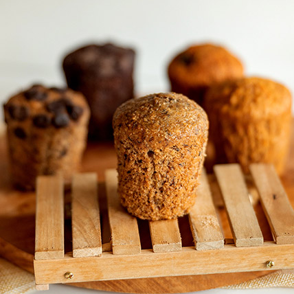 Wholemeal Banana Muffin: Eggless Cakes