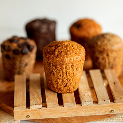 Wholemeal Carrot Spice Muffin: Eggless Cakes
