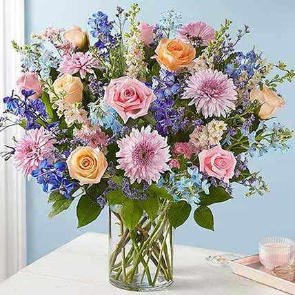 Lovely Bunch Of Colourful Flowers: Gerberas Bouquet