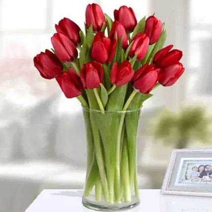 20 Red Tulip Arrangement: Tulip Bouquet