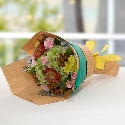 Exotic Flower Bouquet: Green Flower Bouquet