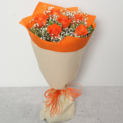 Bouquet Of Orange Roses: CNY Flowers