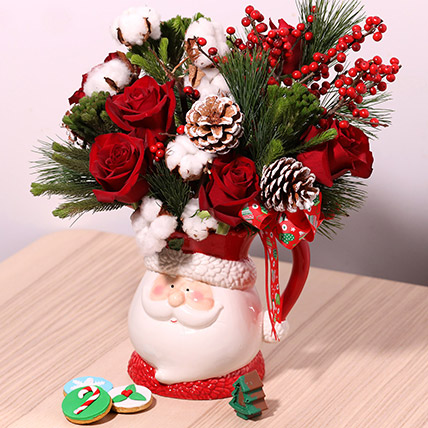 Santas Jar Or Flowers: Gift Ideas