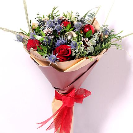 Xmas Decorations Flower Bouquet: Christmas Flower Arrangements