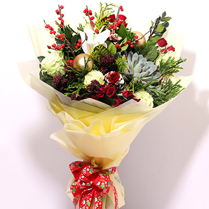 Xmas Special Flower Bouquet: Christmas Gift Ideas