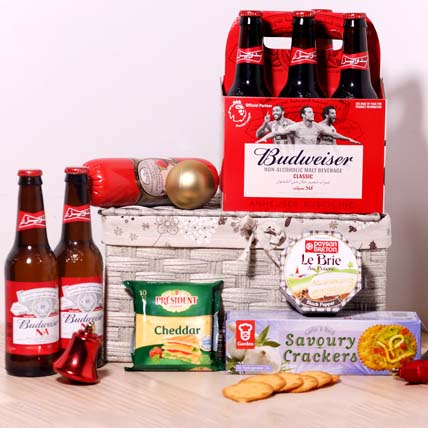 Budweiser Non Alcoholic And Snacks: Christmas Gift Hampers
