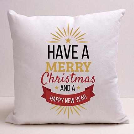 Xmas And New Year Greetings Cushion: Christmas Cushions