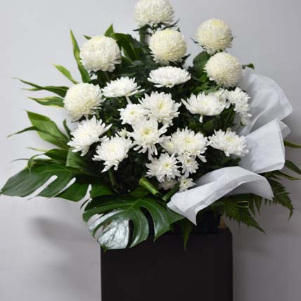 White Ball Mums Flower Stand: Best Selling Flowers