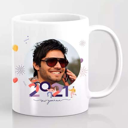 Personalised New Year Greetings Mug: Birthday Gifts For Him