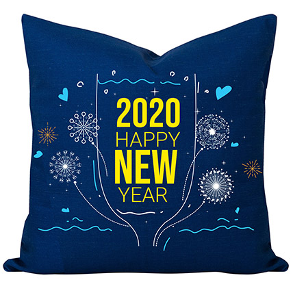 2020 New Year Wishes Cushion: Personalised Gifts For Men