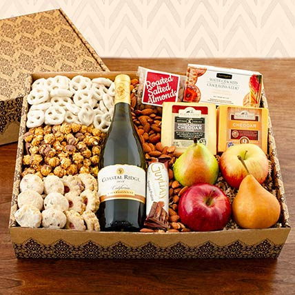 Chardonnay White Wine Hamper: Cookie Shop
