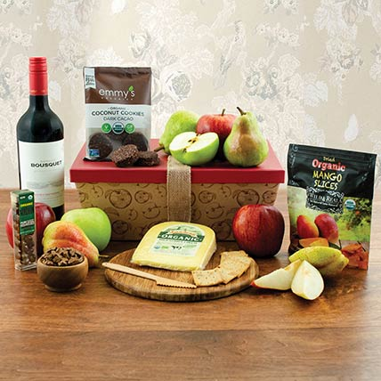 Red Wine N Cookies Gift Hamper: Wine Hampers