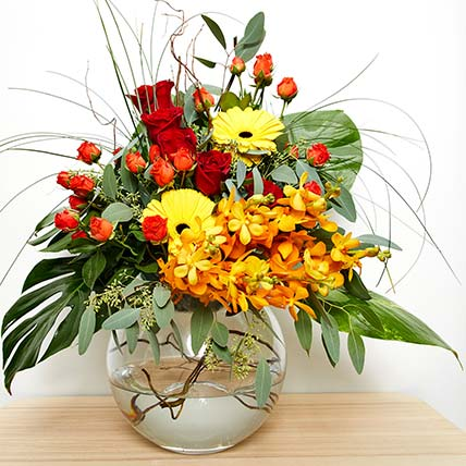 Shades Of Flowers Arrangement: Chinese New Year Flowers