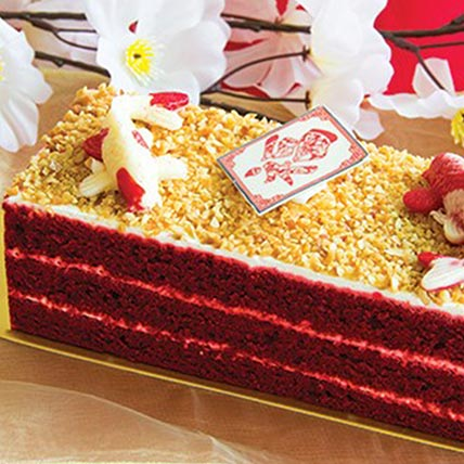 Delicious Red Velvet Pastry: Chinese New Year Cake
