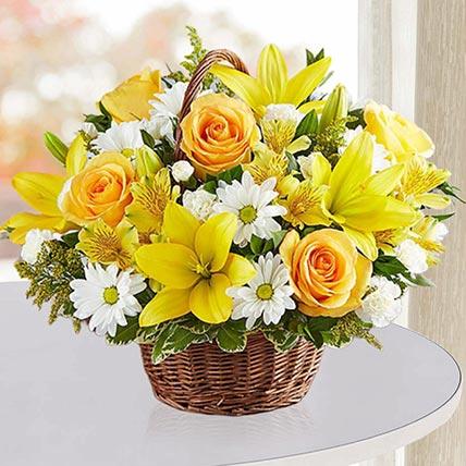 Sunshine Flower Basket: Flower Baskets