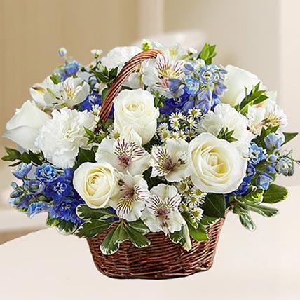 Basket Of Exquisite Flowers: Flower Baskets