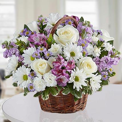 Basket Of Royal Flowers: Basket Arrangements