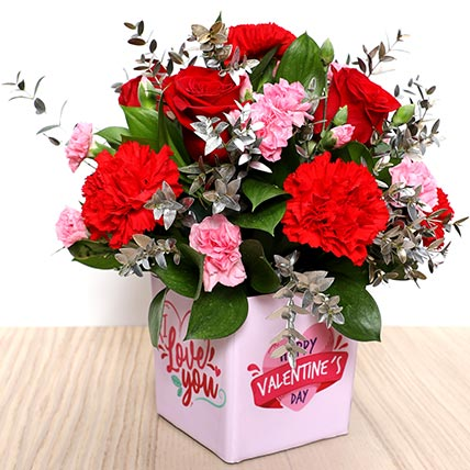 Valentines Love You Flower Vase: Valentines Day Gifts
