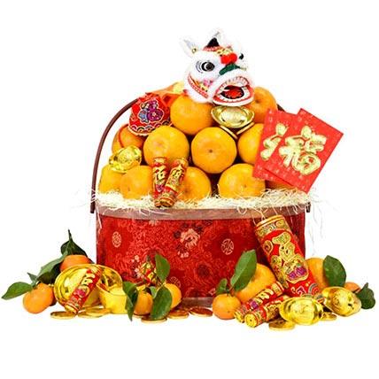 CNY Premium Mandarin Basket: Chinese New Year Hamper