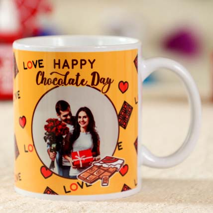 Happy Chocolate Day Personalised Mug: Chocolate Day Gifts