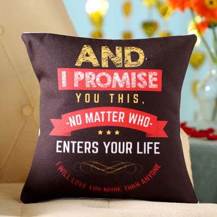 Love You More Promise Cushion: Promise Day Gifts