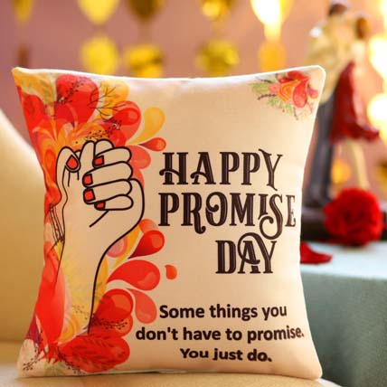 Promise Day Greetings Cushion: