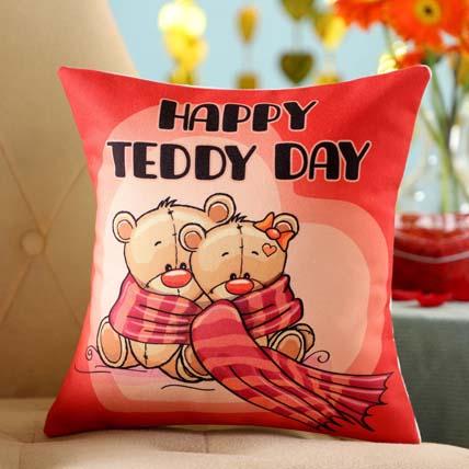 Teddy Day Printed Cushion: Teddy Day Gifts
