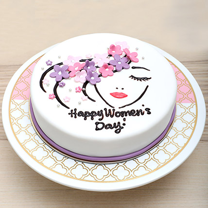 Chocolate Womens Day Cake: International Women's Day Gift Ideas