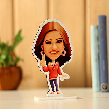 Personalised Pretty Girl Caricature: Customized Gifts