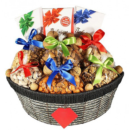 Healthy Nuts & Sweets Basket: Wellness Hampers