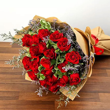 Bouquet Of 20 Red Roses: For Girlfriend
