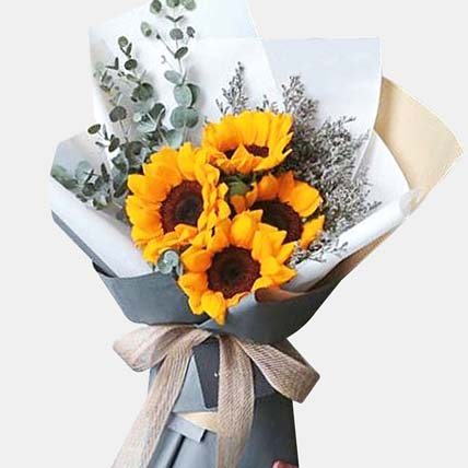 Bright Sunflowers Bunch: New Arrival Gifts