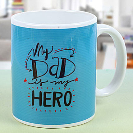 My Dad My Hero Printed Mug: Fathers Day Personalised Gifts