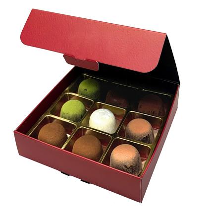No Sugar Chocolate Truffle Box- 9 Pcs: Chocolates