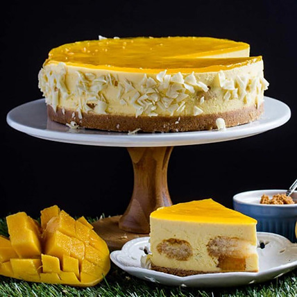 Majestic Mango Cheesecake: Wedding Anniversary Cake