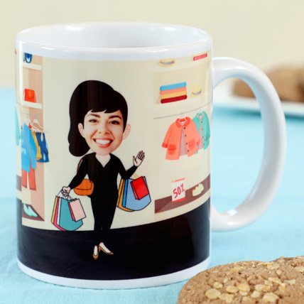 Personalised Office Caricature Mug: Personalised Gifts for Mother