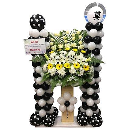 LED Lights Condolence Arrangement: Balloons Delivery