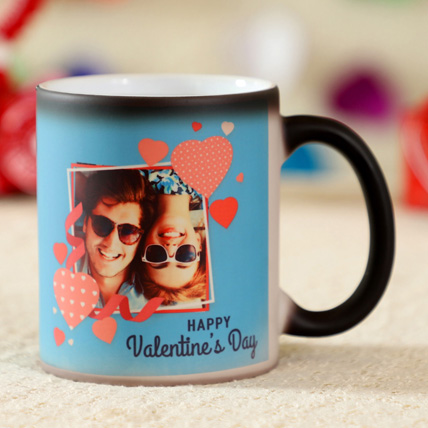 Happy Valentines Day Personalised Magic Mug: Valentines Gifts
