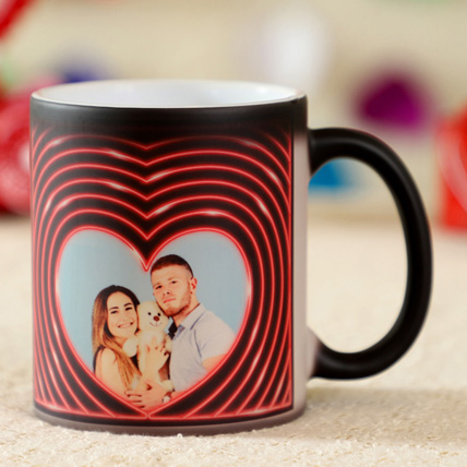 Personalised Heart Effect Magic Mug: Personalised Gifts Singapore