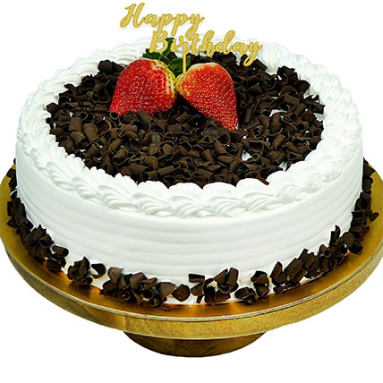 Black Forest Happy Birthday Cake: Birthday Cake Singapore