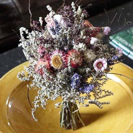 Bridal Autumn Dried Flower Posy: Dried Flowers