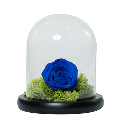 Elegant Blue Rose: Blue Flower Bouquet