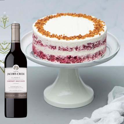 Red Velvet Peanut Butter Cake & Cabernet Sauvignon: Fathers Day Cake