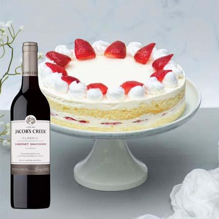Strawberry Cake & Cabernet Sauvignon: Strawberry Cake