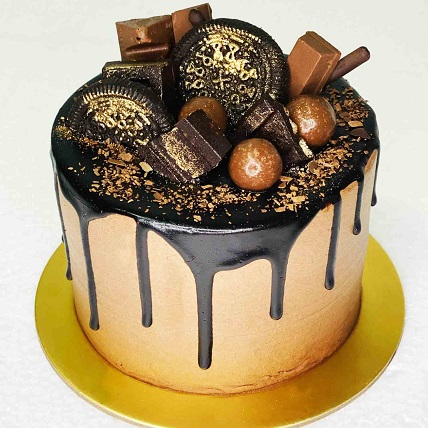 Chocolate Over The Top Cake- 4.5 inches: Chocolate Cakes
