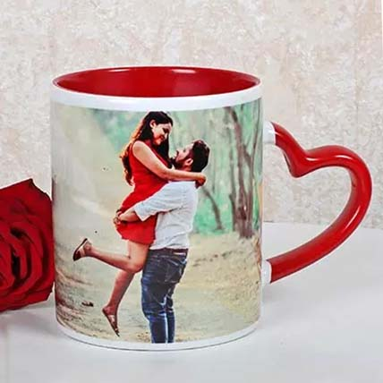 Personalided Red Ceramic Mug: Personalised Gifts for Husband