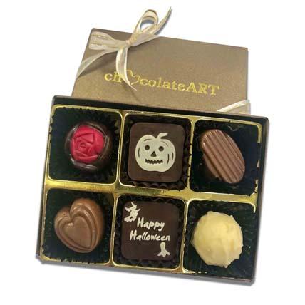 Happy Halloween Designer Chocolate Box- 6 Pcs: Halloween Chocolates
