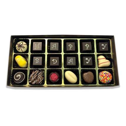 Lavish Birthday Chocolate Gift- 18 Pcs: Chocolates
